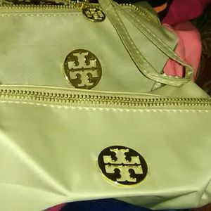 Authentic troy burch cosmetic bag and wristlet